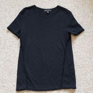 Banana Republic Black Fringe Shirt